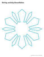 String activities-Snowflakes