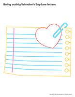 String activities-Valentine's Day-Love-letters