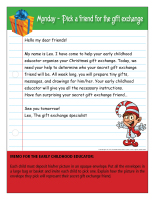 Thematic letter-Christmas-Gift exchange-1