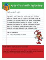 Christmas Gift Exchange Theme And Activities Educatall