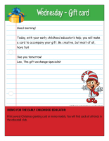 Thematic letter-Christmas-Gift exchange-3
