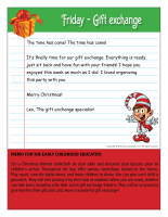 Thematic letter-Christmas-Gift exchange-5