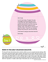 Thematic letter-Easter Surprises-Day-1