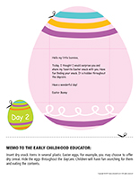 Thematic letter-Easter Surprises-Day-2