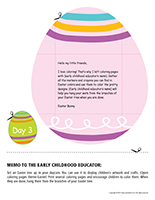 Thematic letter-Easter Surprises-Day-3