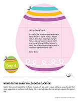 Thematic letter-Easter Surprises-Day-4