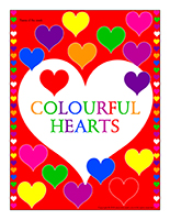 Valentine's Day-Colourful hearts