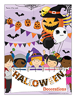Thematic poster-Halloween-Decorations