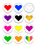 Transition games-Colourful hearts