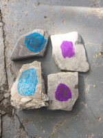 Use rocks to create a homemade memory game