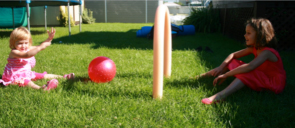 Using swimming pool noodles to create a soccer game-4