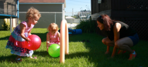Using swimming pool noodles to create a soccer game-5