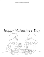 Valentine's Day cards-Black and white