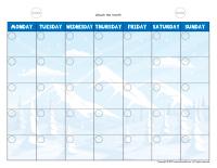 Visual calendar-Winter-1
