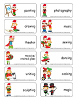 Word-flashcards-Christmas-Creative workshops