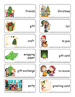 Word flashcards-Christmas-Gift exchange