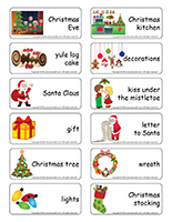 Word flashcards-Christmas traditions