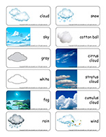 Word flashcards-Clouds