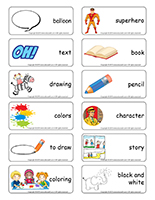 Word flashcards-Comic strips