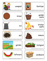 Word flashcards-Composting