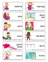 Word flashcards-Dance