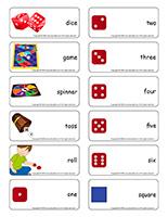 Word flashcards-Dice