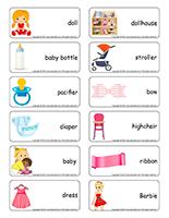 Word flashcards-Dolls