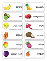 Word flashcards-Exotic fruit