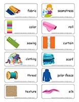 Word flashcards-Fabric