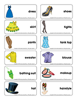 Word flashcards-Fashion