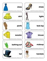 Word flashcards-Fashion