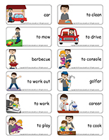 Word flashcards-Father's Day