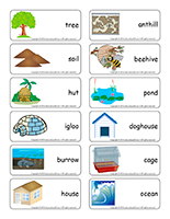 Word flashcards-Habitats