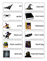 Word flashcards-Halloween-In the dark