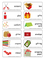 Word flashcards-Handmade gifts