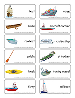 Word flashcards-Marine transportation