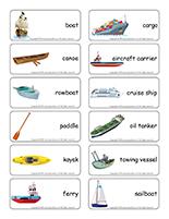 Word flashcards-Marine transportation