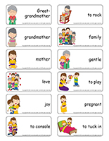 Word flashcards-Mothers and grandmothers