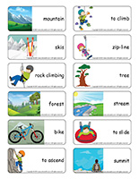 Word flashcards-Mountains