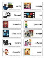 Word flashcards-Movies