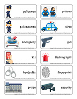 Word flashcards-Police
