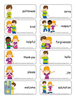 Word flashcards-Politeness