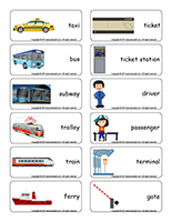 Word flashcards-Public transportation