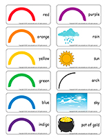 Word flashcards-Rainbows