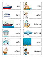 Word flashcards-Sailors