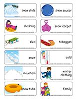Word flashcards-Sledding
