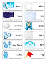 Word flashcards-Snow castles