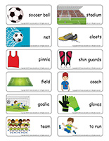 Word flashcards-Soccer