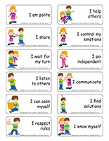Word flashcards-Social skills