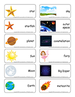 Word flashcards-Stars